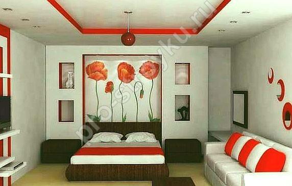 цветовое сочетание в спальной комнате