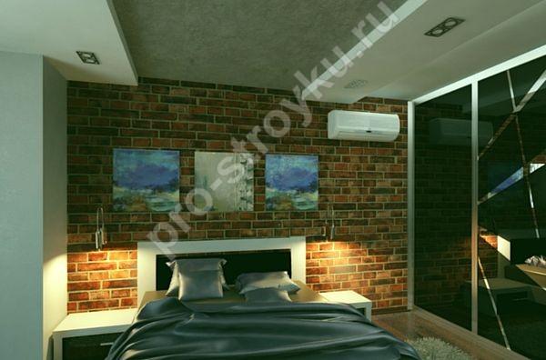 сочетание лофта с другими стилями в спальной