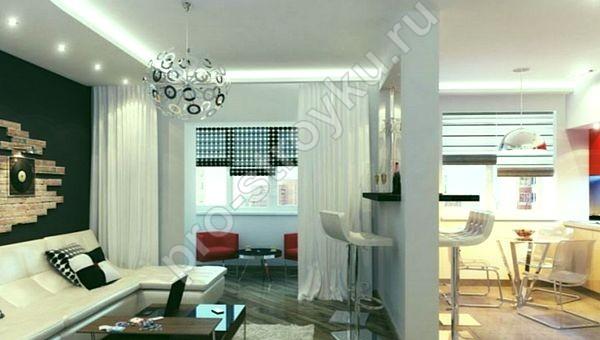 мебель в комнате под стиль лофт