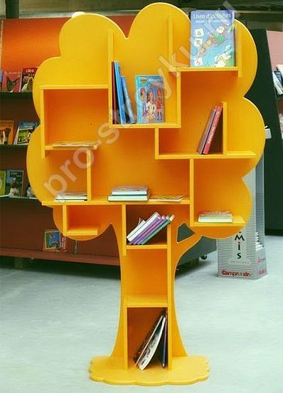 стеллаж детский в виде дерева для книг