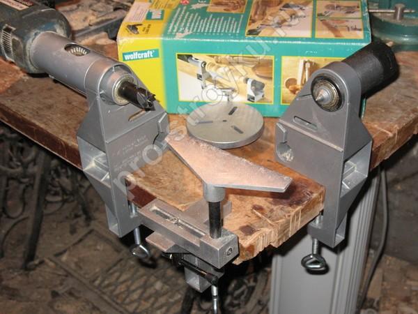 токарная приставка для дрели