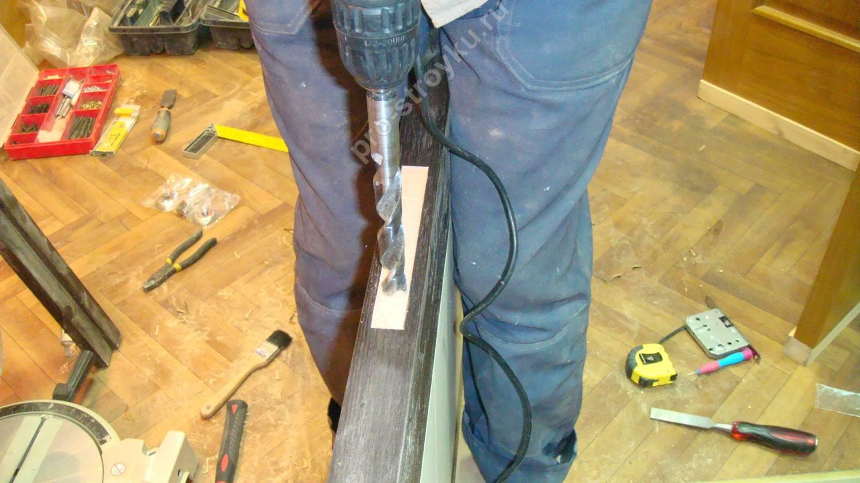 фрезерование пазов с помощью дрели
